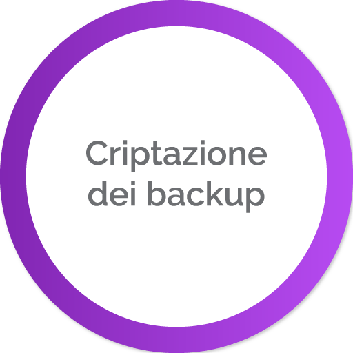 Criptazione dei backup | Portali In Cloud