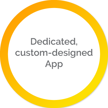 Dedicated, custom-designed App