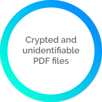Crypted and unidentifiable PDF files